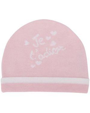 Z kaszmiru różowa czapka Baby Dior