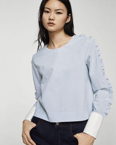Синяя блузка прямая Mango