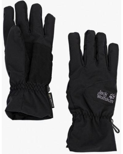 Черные перчатки текстильные Jack Wolfskin