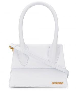 Золотистая белая сумка через плечо с пряжкой с карманами Jacquemus