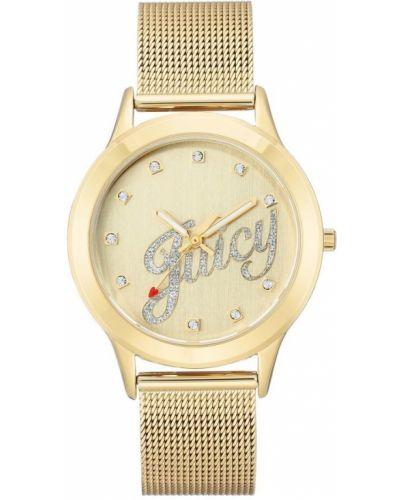 Złoty zegarek mechaniczny kwarc Juicy Couture