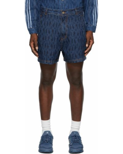 Niebieskie jeansy w paski Adidas X Ivy Park