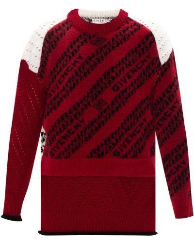 Sweter wełniany - czerwony Givenchy