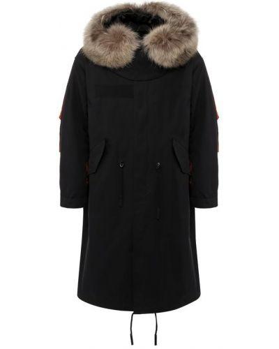 Куртка с капюшоном на молнии хлопковая Givenchy