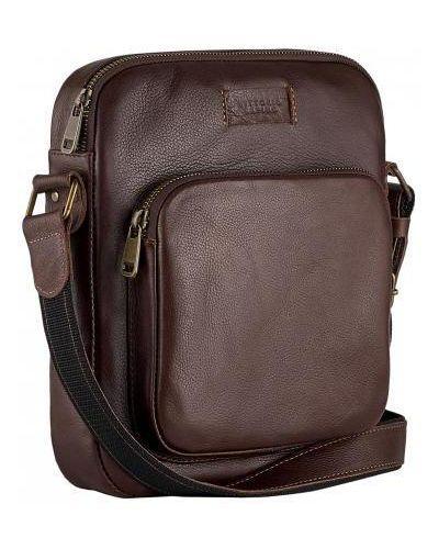 Кожаная сумка - коричневая Vittorio Safino