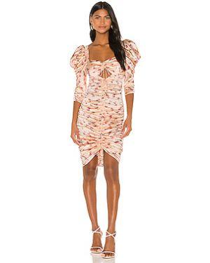 Плиссированное розовое платье миди со складками на молнии For Love & Lemons