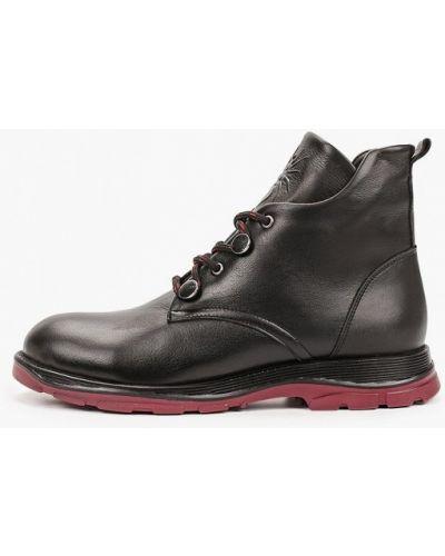Черные кожаные ботинки Alessio Nesca
