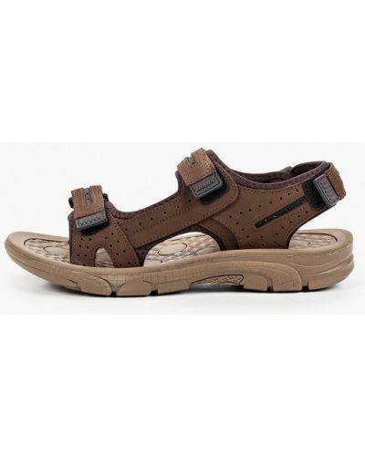 Коричневые сандалии из нубука Beppi