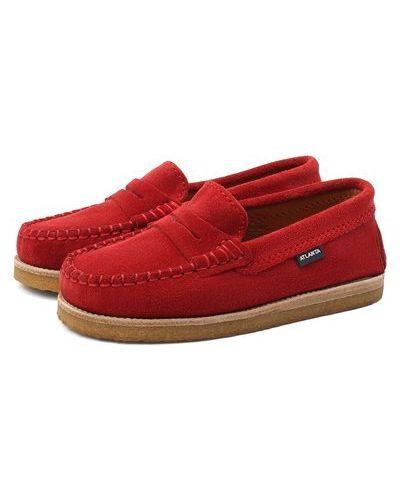 Красные кожаные мокасины с подкладкой Atlanta Mocassin