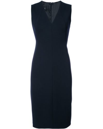 Синее платье с V-образным вырезом Akris