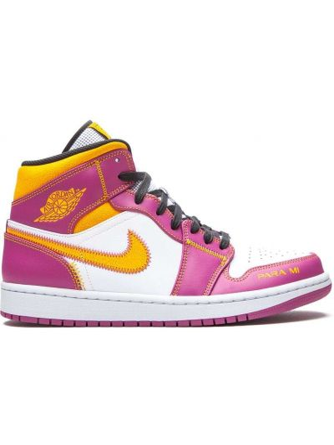 Кожаные белые кроссовки на шнурках Jordan