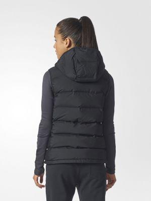 Жилетка с капюшоном - черная Adidas