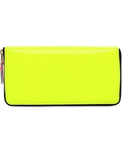 Portfel skórzany - żółty Comme Des Garçons Wallet