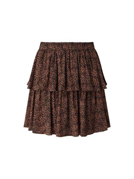 Czarna spódnica mini rozkloszowana z wiskozy Y.a.s