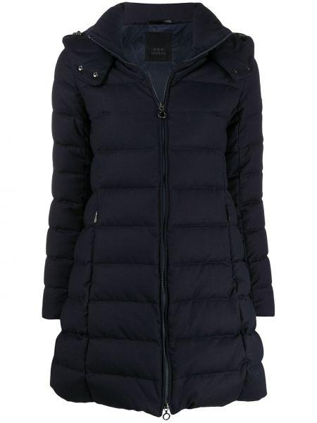 Приталенное пальто с капюшоном айвори Tatras