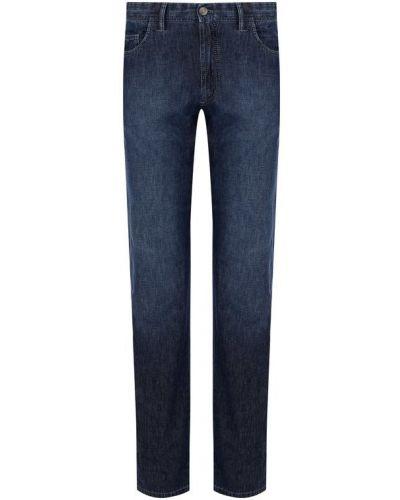 Синие прямые джинсы Brioni