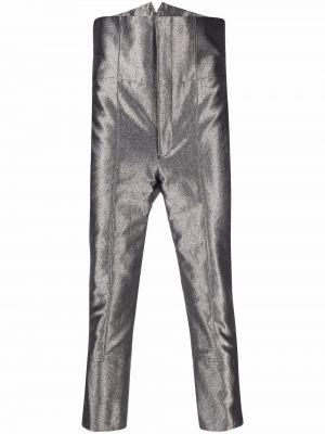 Spodnie z wysokim stanem bawełniane Comme Des Garcons Homme Plus