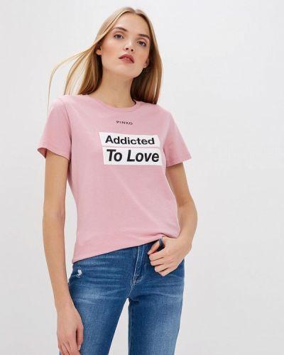 Розовая футболка 2019 Pinko