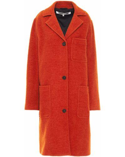 Оранжевое шерстяное пальто с карманами Mcq Alexander Mcqueen
