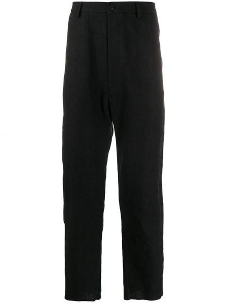 Черные прямые брюки на пуговицах с карманами новогодние Poème Bohémien