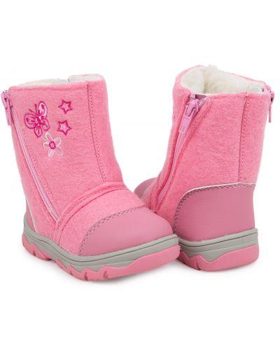 Текстильные розовые валенки Kdx