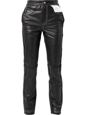 Spodnie skorzane - czarne Mm6 Maison Margiela