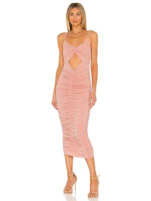 Текстильное с ромбами платье миди с оборками Michael Costello