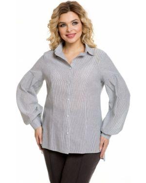 С рукавами прямая блузка на пуговицах с разрезом Novita