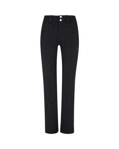 Зауженные черные утепленные брюки Descente