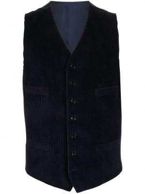 Bawełna bawełna niebieski klasyczny kamizelka z dekoltem w szpic Dolce And Gabbana