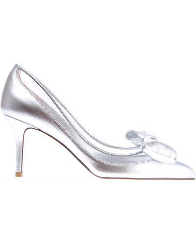 Туфли на каблуке кожаные с бантом Valentino