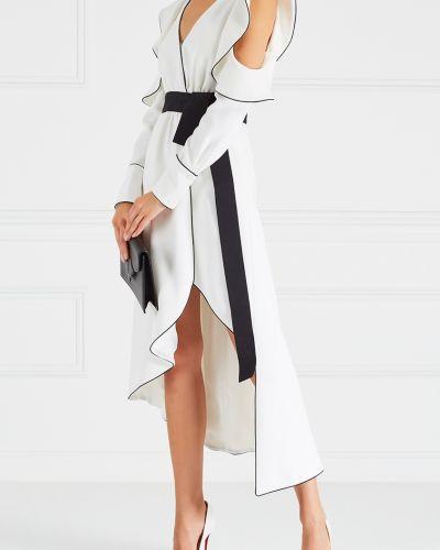Платье с поясом с открытой спиной с V-образным вырезом Self-portrait