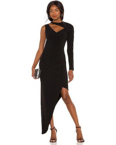 Czarna sukienka asymetryczna Bcbgmaxazria
