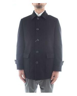 Czarny płaszcz przeciwdeszczowy Sartoria Latorre