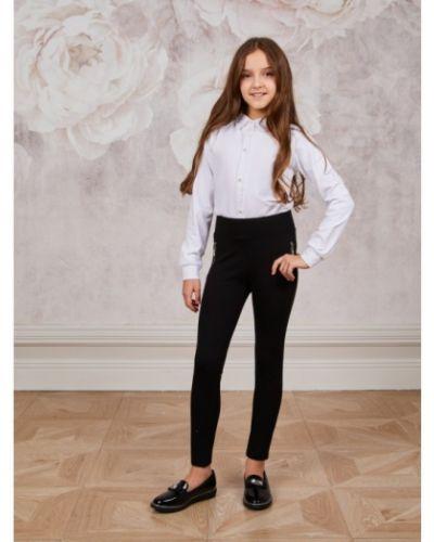 Хлопковые школьные брюки на резинке Luminoso