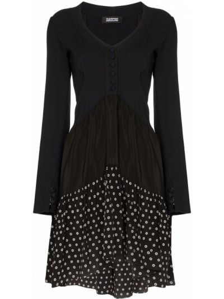 Классическое вечернее платье в рубчик с манжетами на молнии Rockins