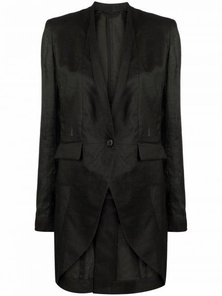 Черный однобортный пиджак на пуговицах с V-образным вырезом Isabel Benenato