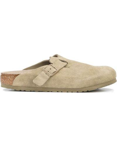 Sandały zamszowe - khaki Birkenstock