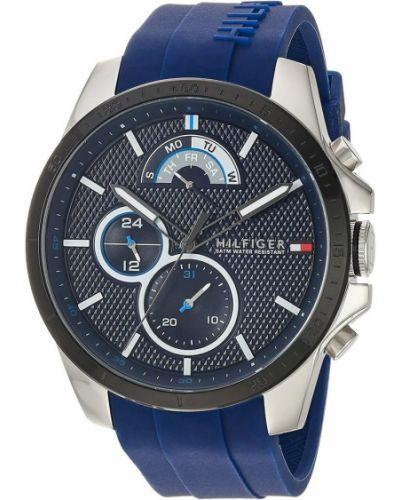 Szary zegarek kwarcowy srebrny kwarc Tommy Hilfiger
