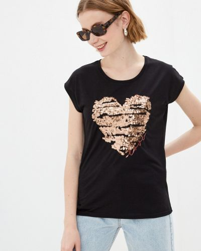 Черная футболка с короткими рукавами Haily's