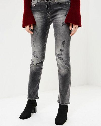 Серые джинсы с высокой посадкой Gaudi