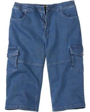 Синие джинсовые шорты с карманами из овчины на пуговицах Atlas For Men