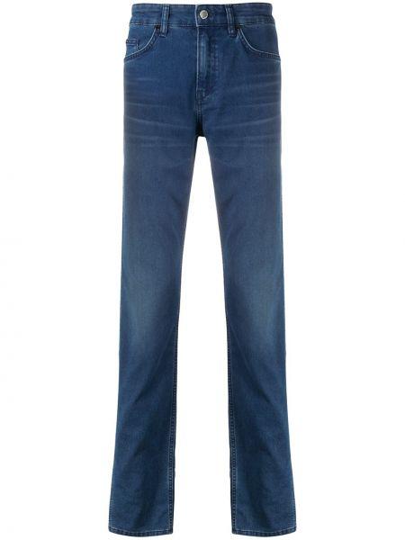 Синие джинсы с высокой посадкой на молнии Boss Hugo Boss