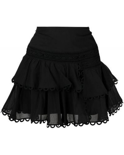 Czarna spódnica mini z wysokim stanem bawełniana Charo Ruiz Ibiza