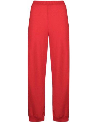 Шерстяные спортивные брюки в полоску эластичные Stella Mccartney