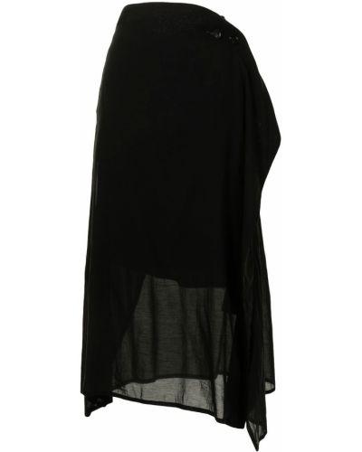 Хлопковая черная юбка Y`s