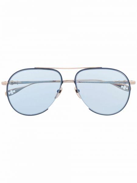 Niebieskie okulary srebrne Chrome Hearts