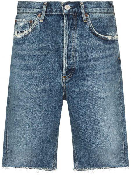 Bawełna bawełna niebieski jeansy z kieszeniami Agolde