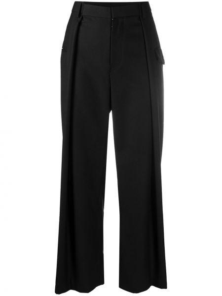 Шерстяные черные свободные брюки свободного кроя с высокой посадкой Comme Des Garçons Noir Kei Ninomiya