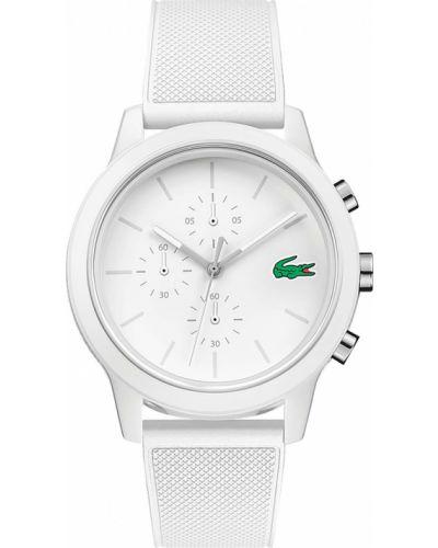 Biały zegarek silikon Lacoste
